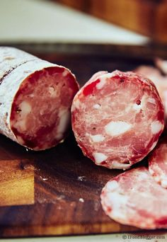 Curing sausage at home is a lot of fun. Homemade Sopressata is nothing like store-bought. I guarantee it, you will love this recipe. Homemade Sausage Recipes, Pork Recipes, Cooking Recipes, Charcuterie Recipes, Home Made Sausage, How To Make Sausage, Sausage Making, Do It Yourself Food, Meat And Cheese