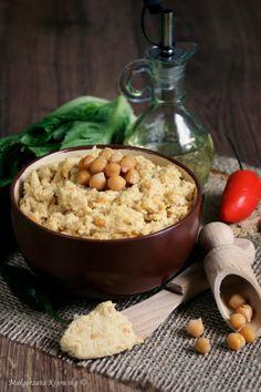 zmiksowana ciecierzyca, pasta z ciecierzycy Happy Foods, Tofu, Oatmeal, Grains, Healthy Eating, Rice, Pasta, Breakfast, Curry