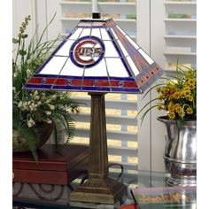 """Chicago Cubs 23"""" Mission Tiffany Table Lamp - $169.99"""