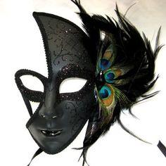 Venetian Dark Masquerade Party Mask
