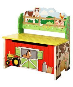 Look what I found on #zulily! Fantasy Fields Happy Farm Storage Bench #zulilyfinds