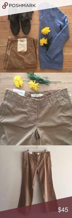 """NWT J. Crew Weekend Chino Pants Brand new with tags J. Crew Khaki Weekend Chino pants.  Broken in style.  Loose, casual and gently frayed.  Waist is 17"""" across.  Rise is 9 1/2"""".  In seam is 30"""".  In new condition. J. Crew Pants"""