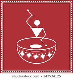 Find Indian Tribal Painting Warli Painting stock images in HD and millions of other royalty-free stock photos, illustrations and vectors in the Shutterstock collection. Madhubani Art, Madhubani Painting, Worli Painting, Fabric Painting, Pencil Art Drawings, Art Drawings Sketches, Art Indien, Pottery Painting Designs, Indian Folk Art