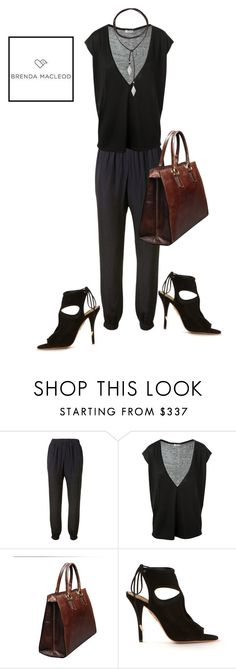 """""""lax and sexy"""" by brendamacleod ❤ liked on Polyvore featuring Lanvin, Leetha, Aquazzura and Vanessa Mooney"""