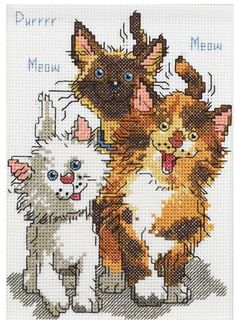 """Janlynn Counted Cross Stitch kit 5"""" x 7"""" ~ CATTAILS OF DUCKPORT Sale #038-0208"""