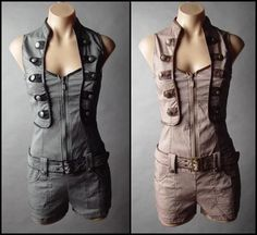 I like this cyberpunk/steampunk jumpsuit :) It's pretty, but in an elegant, almost functional way.