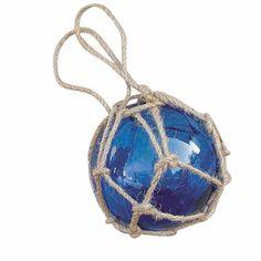 Maritime dekoartikel fischer kugel glas mit netz 5cm for Besondere dekoartikel