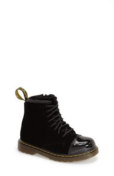 Free shipping and returns on Dr. Martens 'Bunny' Boot (Walker & Toddler) at Nordstrom.com. Glossy patent trim contrasts with the velvety finish of a classic ankle boot grounded with a sturdy rubber sole.