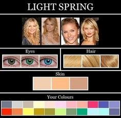 Clear Spring Color Analysis - Celebrity examples may not be the best range of clear spring types. Clear springs are often depicted with deeper hair colors. Summer Eyes, Summer Skin, Soft Summer Makeup, Soft Summer Color Palette, Summer Colors, Mode Ab 50, Color Type, Winter Typ, Seasonal Color Analysis