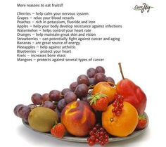 More Reasons to Eat Fruit Healthy Eating Tips, Clean Eating Recipes, Get Healthy, Diet Recipes, Healthy Recipes, Healthy Food, Health And Beauty Tips, Health And Wellness, Apple Help