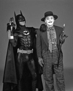 Michael Keaton as Batman and Jack Nicholson as The Joker. Michael Keaton, Jack Nicholson, Keaton Batman, John Douglas, Beetlejuice, Gotham, Dc Comics, Hq Marvel, Im Batman