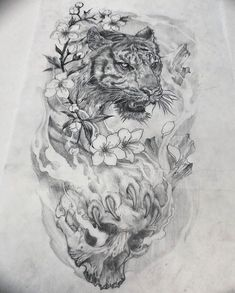 By in Zhenjiang, China 🇨🇳 Tiger Eyes Tattoo, White Tiger Tattoo, Tiger Tattoo Design, Sketch Tattoo Design, Lion Tattoo, Tattoo Sketches, Tattoo Drawings, Body Art Tattoos, Half Sleeve Tattoos Forearm