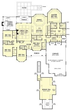 House Plans One Story, New House Plans, Dream House Plans, Story House, House Floor Plans, House Drawing, Drawing Board, Plan Drawing, Drawing House Plans