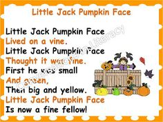 Little Jack Pumpkin Face: Poem Fun While Covering the Standards: over 15 literacy activities and ideas-$