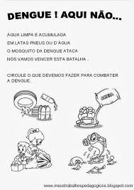 Resultado de imagem para dengue educação infantil