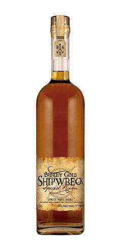 Brinley Gold Shipwreck Spiced Rum at Flaviar Rum Liquor, Rum Rum, Rum Bottle, Whiskey Bottle, Rum Shop, Spiced Rum, Ron, Bacchus, Bottle Packaging