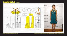 The trend cut out, which means a cut in some part of clothing, with everything still embellishing the looks. Cut along the shoulders, back. Easy Sewing Patterns, Dress Patterns, Sewing Clothes, Diy Clothes, Diy Wardrobe, Modelista, How To Make Clothes, Pattern Cutting, Pattern Drafting