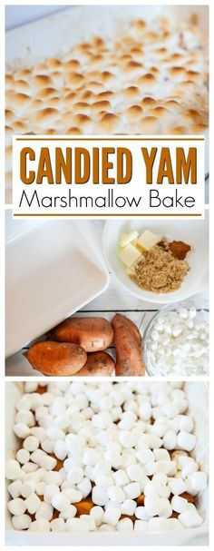 Plan your Thanksgiving feast with this Candied Yam and Marshmallow Bake. It s the perfect combination of sweet and simple, and honestly, one of those classic Thanksgiving dishes that you just can t pass up. via winonarogers Candied Yams Easy, Best Candied Yams Recipe, Sweet Potatoes With Marshmallows, Recipes With Marshmallows, Marshmallow Yams, Candied Yams With Marshmallows, Can Yams Recipe, Thanksgiving Yams, Thanksgiving Vegetables