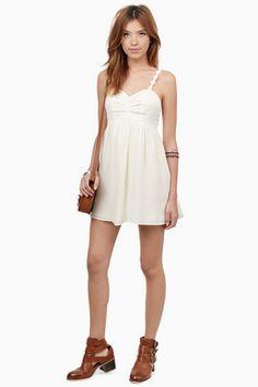 Sale - Dresses, Tobi, Cream Yes She Can Flowy Dress