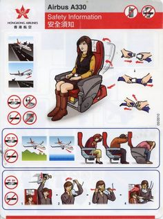 Hong Kong Airlines Airbus A330 Safety Card