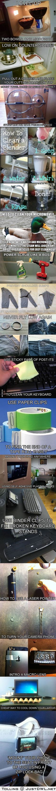 15 Clever Life Hacks to Simplify Your World (Wow! Def stealing some of these ideas!)