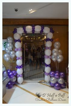 Purple & Silver Wedding