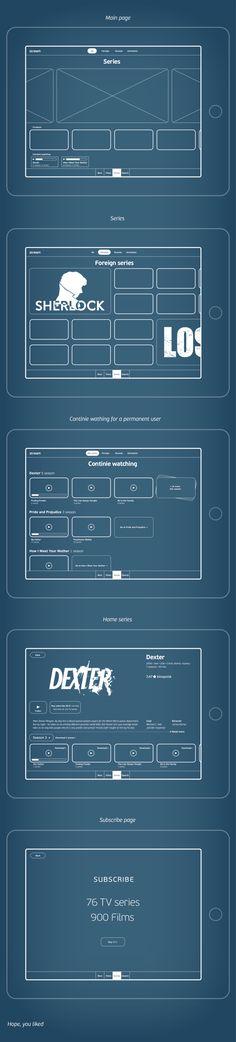 Series app wireframe by Vladimir Vorobyev, via Behance