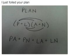 Foiled plans: