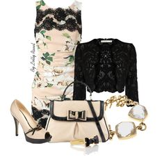 Dolce & Gabbanas floral dress by lolly-ravel on Polyvore