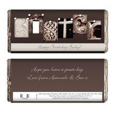 Affection Art Sister Chocolate Bar