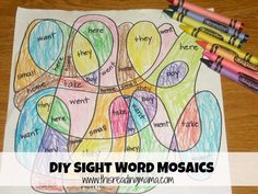 Clever way to give kids sight word practice.
