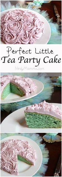 I'm planning a tea party for my daughter--this is the perfect VEGAN cake for the occasion! Vegan Sweets, Vegan Desserts, Dessert Recipes, Vegan Recipes, Party Recipes, Sweet Recipes, Cake Recipes, Vegan Teas, Vegan Foods