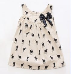 Girls Deer Print Tunic Dress by Lil Haus of Hammer. So stinkin' cute.