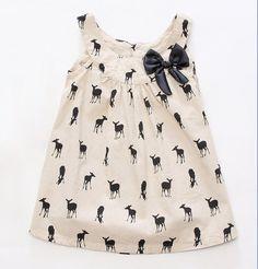Girls Deer Print Tunic Dress (sleeveless) by Lil Haus of Hammer