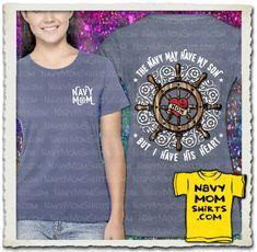 WOW! Gotta Have!!! Gorgeous Navy Mom Ships Wheel Shirt designed by NavyMomShirts.com