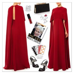 """The Oscars"" by atelier-briella ❤ liked on Polyvore featuring Valentino, Giuseppe Zanotti, Jimmy Choo, Allurez, Anne Sisteron, Bee Goddess, Smashbox, RedCarpet, chic and Elegant"