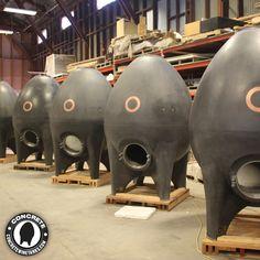 American-made Concrete Beer Tanks by Sonoma Cast Stone Beer Maker, Beer Snob, California Wine, Cast Stone, Egg Shape, Wine Country, American Made, Craft Beer, Brewery