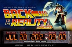 Brainstorm: Back to the future party invitation ideas