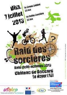 Raid des sorcières 2013 à Le Noyer. Le dimanche 7 juillet 2013 au Noyer.