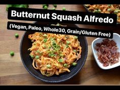 Butternut Squash Alfredo (Paleo, Vegan) – All Recipes Food Cooking Network Grain Free, Dairy Free, Gluten Free, Specific Carbohydrate Diet, Grilled Eggplant, Whole 30, Butternut Squash, The Fresh, A Food