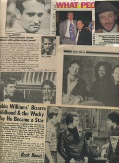 Robin Williams newspaper clippings