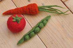 Needle Felt Vegetables Kit  DIY Felting Craft Kit by AnSnagBreac, €15.00