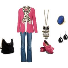 Pink Casual, created by missybluth.polyvore.com