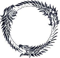The ouroboros or uroboros, (from the Greek οὐροβόρος ὄφις tail-devouring snake)…