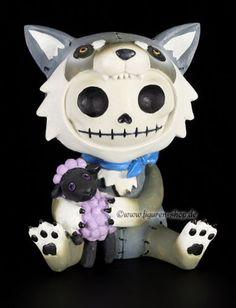 Grande-Furry-Bones-personnage-wolfgang-fun-drole-statue-furrybones