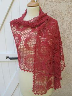 crocheted circles shawl