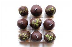 Chocolate Lavender Ganache Truffles