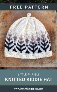 Little Fair Isle Kiddie Strickmütze [FREE Knitting Pattern] - knit hat Love Knitting, Baby Knitting, Vintage Knitting, Fair Isle Knitting Patterns, Crochet Patterns, Embroidery Patterns, Beanie Knitting Patterns Free, Baby Hat Patterns, Stitch Patterns