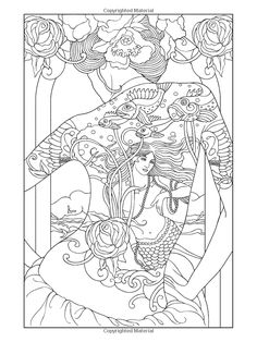 Body Art: Tattoo Designs Coloring Book page by Dover