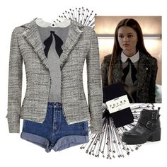 """Emma Chota episode 3"" by citruspetals ❤ liked on Polyvore featuring Falke, River Island and FABIANA FILIPPI"